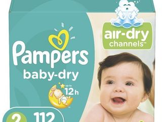 Pampers Baby Dry Extra Protection Diapers  Size 2  112 Ct