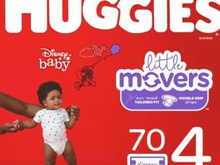 HUGGIES little Movers Diapers  Size 4  70 Count