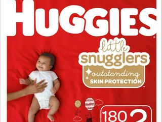 Huggies little Snugglers Diapers   Size 2  186ct