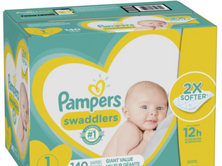 Pampers Swaddlers Disposable Diapers Giant Pack   Size 1  140ct