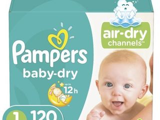 Pampers Baby Dry Extra Protection Diapers  Size 1  120 Ct