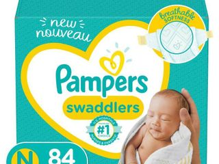 Pampers Swaddlers Soft and Absorbent Diapers  Size N  84 Ct