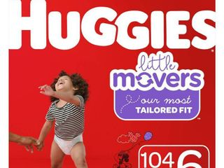 Huggies little Movers Diapers   Size 6  104ct