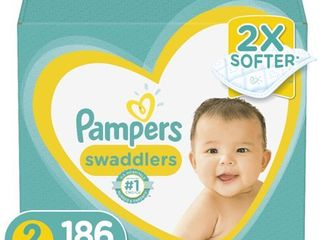 Pampers Swaddlers Soft and Absorbent Diapers  Size 2  186 Ct