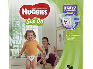 Huggies little Movers Slip On Diaper  Economy Plus Pack Size 5  128 count