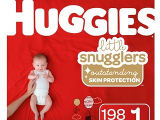 Huggies little Snugglers Baby Diapers Size 1 198 Ct One Month Supply