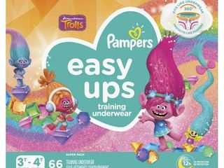 Pampers Easy Ups Girls Training Pants Super Pack   Size 3T 4T  72 ct