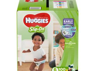 Huggies little Movers Slip On Diaper Pants   Size 6  100ct