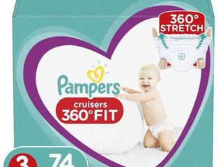 Pampers Cruisers 360 Disposable Diapers Super Pack   Size 3  74ct