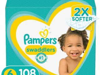 Pampers Swaddlers Disposable Diapers One Month Supply   Size 6  108ct