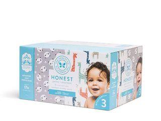 The Honest Company Disposable Diapers Super Club Box Pandas   Giraffes   Size 3   136ct