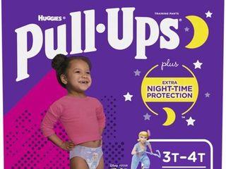 Pull Ups Girls  Night Time Training Pants  3T 4T  60 Ct