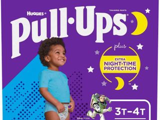 Pull Ups Night Time  3T 4T  32 40 lb  Disposable Potty Training Pants for Toddler Boys  60 Count