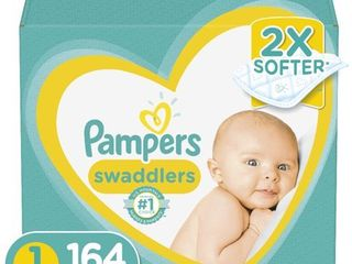 Pampers Swaddlers Soft and Absorbent Newborn Diapers  Size 1  164 Ct
