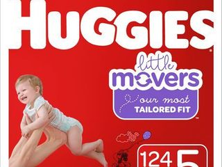 Huggies little Movers Baby Diapers  Size 5  124 Count  disney Baby