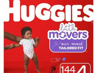 Huggies little Movers Diapers   Size 4  144ct