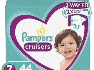 Pampers Cruisers Active Fit Active Comfort Diapers  Size 7  44 Ct