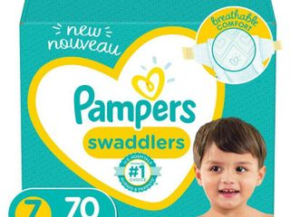 Pampers Swaddlers Soft and Absorbent Diapers  Size 7  70 Ct