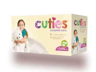 Cuties Complete Care Baby Diapers  Size 6  104 Count