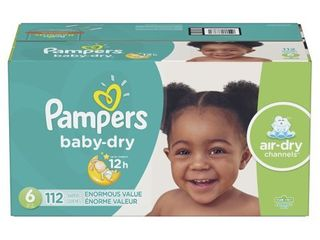 Pampers Baby Dry Extra Protection Diapers  Size 6  112 Ct