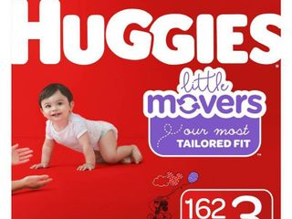 Huggies little Movers Diapers   Size 3  162ct