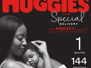 HUGGIES Special Delivery Baby Diapers  Hypoallergenic  Size 1  144 Count