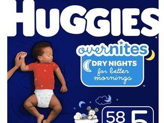 Huggies Overnites Nighttime Diapers  Size 5  58 Ct  Giga Jr Pack