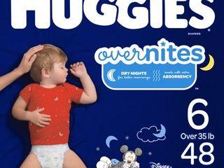 Huggies OverNites Diapers   Size 6  48ct