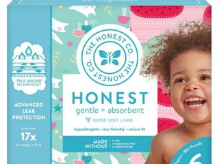 Honest Company Strawberries Bunnies Club Pack 44ct Disposable Diapers Size 6
