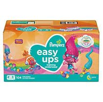 Pampers Easy Ups Girls Training Pants OMG Pack 4T 5T  104ct