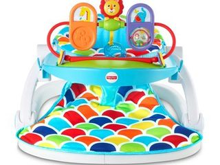 Fisher Price Deluxe Sit Me Up Floor Seat with Toy Tray  Multicolor