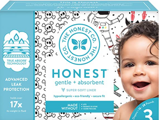 Honest Co Baby Diapers Size 3 Count 136 Trueabsorb Space  Breakfast
