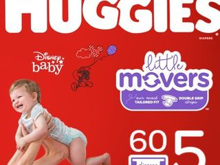 Huggies little Movers Diapers   Size 5  66ct