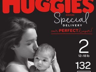 HUGGIES Special Delivery Baby Diapers  Hypoallergenic  Size 2  132 Count
