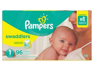Pampers Swaddlers Soft and Absorbent Newborn Diapers  Size 1  96 Ct