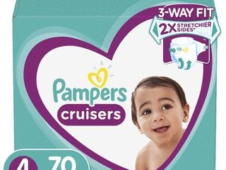 Pampers Cruisers Active Fit Taped Diapers  Size 4  70 Ct