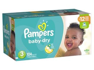 Pampers Baby Dry Extra Protection Diapers  Size 3  104 Ct