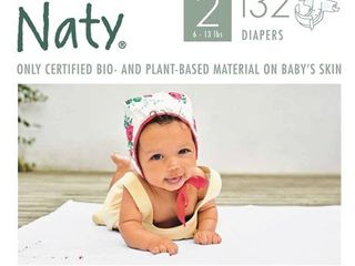 Eco By Naty 4pk Premium Disposable Diapers for Sensitive Skin   Size 2  132ct