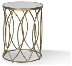 norwich iron side table gold posh pollen marble top