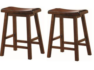 Dark Walnut Finish Bar Stool Wooden Home Barstool Set