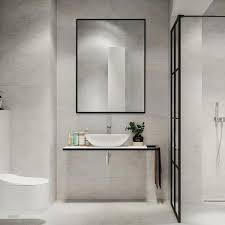 neu typechic Modern Thin Frame Wall Mounted Hanging Bathroom Vanity Mirror  Retail 128 99 black