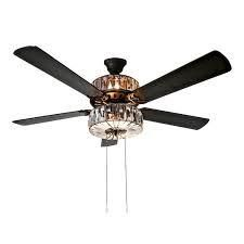 River of Goods 52  Imperial Dome Stained Glass lED Ceiling Fan with light