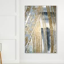 Oliver Gal  Chosen One  Abstract Wall Art Canvas Print   Gray  Gold  Retail 98 99