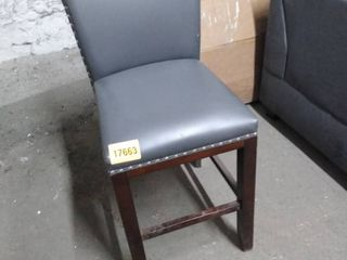 grey studded chair