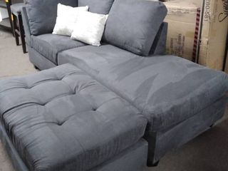 set of 2 pieces chase lounge piece and ottoman only with 2 pillows