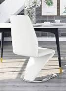 furniture of America norm contemporary chair white crome base
