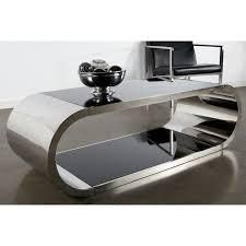 pia chrome modern coffee table with glass