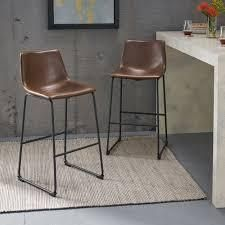 Carbon loft Diggory 30 inch Faux leather Barstool  Set of 2    Retail 141 00 vintage brown