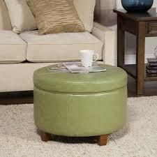 porch and den rockwell large moss green leatherette storage ottoman homepop