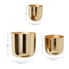 carson Carrington planters set of 3 gold